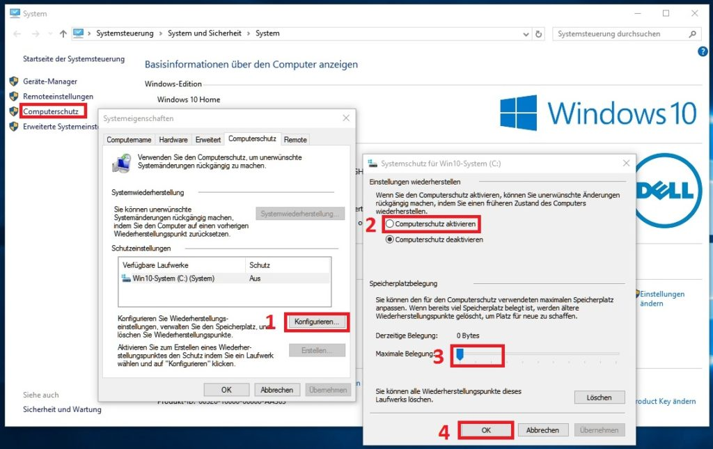 Windows 10: Computerschutz aktiviren