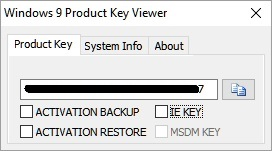 Windows 9 Product Key Viewer